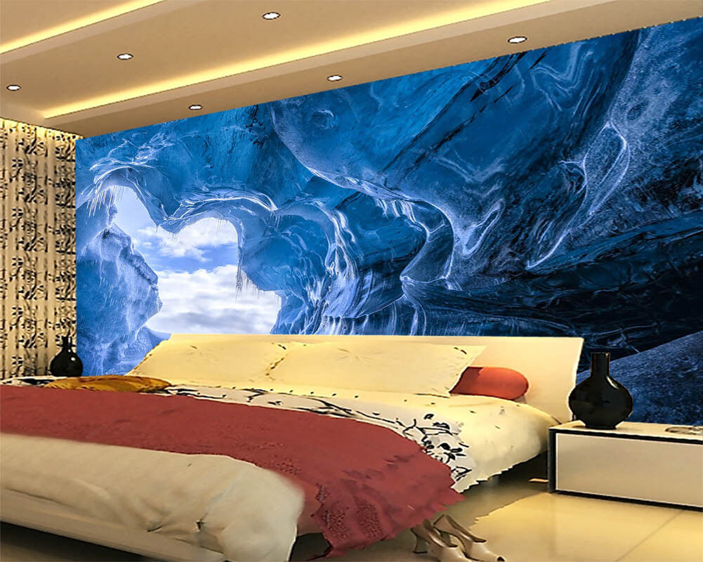 Dream Water Cave 3D Full Wall Mural Photo Wallpaper Printing Home Kids Decor