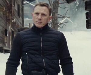Details About Tom Ford Spectre Knitted Sleeve Bomber Jacket Full Black James Bond