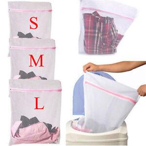 3x Laundry Washing Mesh Net Lingerie Underwear Bra Clothes Sock Zipped Wash  YJ