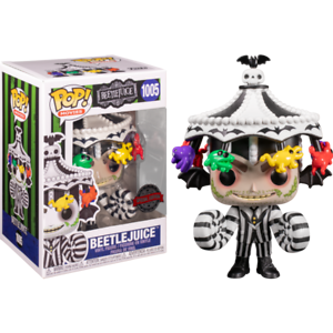 RARE-Beetlejuice-with-Carousel-Hat-Funko-Pop-Vinyl-New-in-Mint-Box-Protector