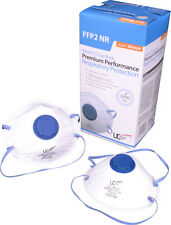 UCi UC-P2V Valved Cup Mask Dust Mask Respirator FFP2 - Box of 20