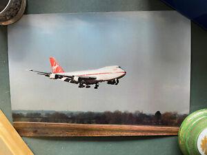 Virgin Boeing 747 colour photo