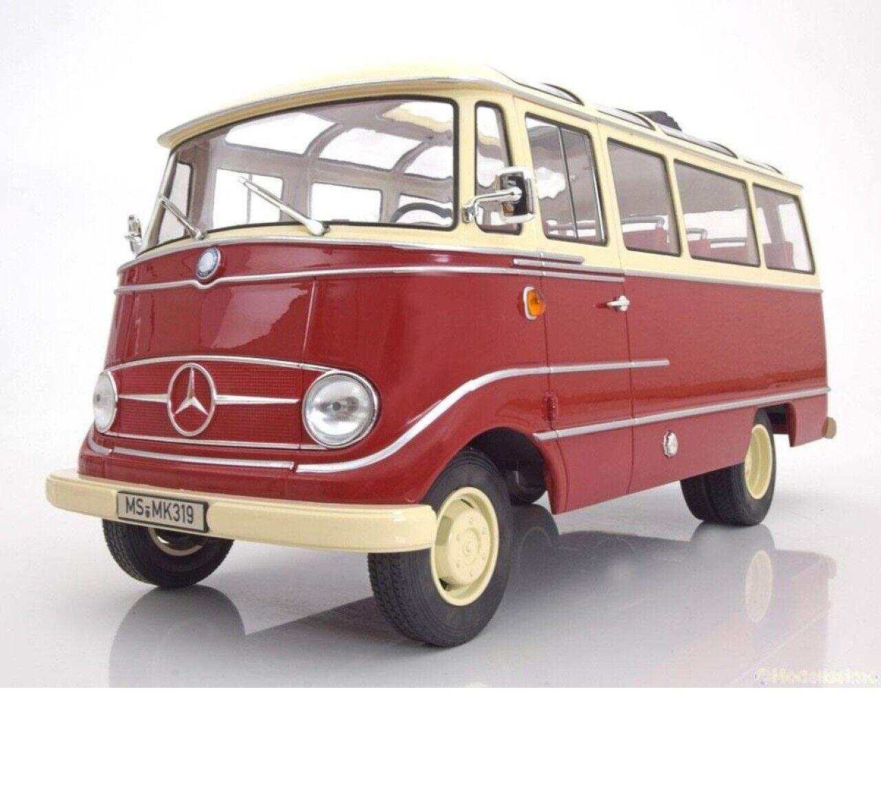1 18 Norev Mercedes O319 bus 1960 Rouge Crème édition limitée