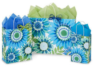OMBRE-FLOWERS-Design-Party-Gift-Paper-Bag-ONLY-Choose-Size-amp-Pack-Amount