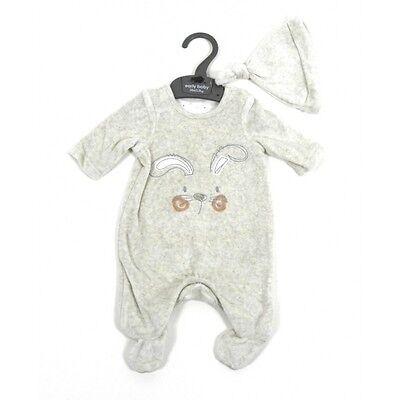 Tiny Baby Newborn Babygrow Unisex Romper /& Matching Hat Mothercare 100/% Cotton