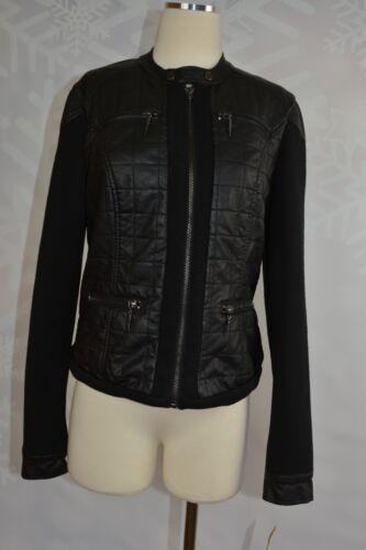 Størrelse Media Leather Mixed Rachel Roy M Faux Quiltet Nwt Jacket Evq0TnqO
