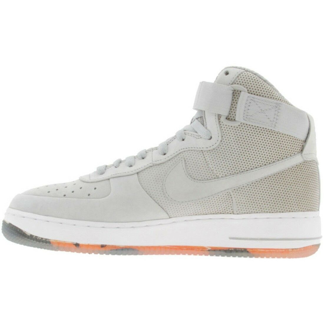 345189-001 Nike Air Force 1 High Supreme - Futura Matte Silver orange