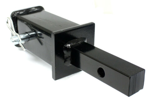 """Tow hitch reducer adaptor 1-1//4/"""" to 2/"""" with safety pin"""