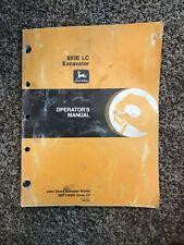 John Deere Model 892e Lc Excavator Owner Operator Maintenance Manual Omt146063