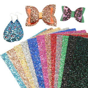 20-34cm-Chunky-Glitter-With-Multicolor-Sequins-Faux-Leather-Sheets-For-DIY-Craft