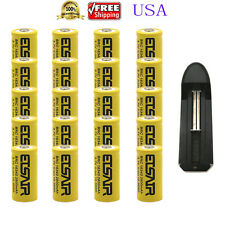 20x 3.7V CR123A 123A CR123 16340 2800mAh  Rechargeable Battery Cell + 1x Charger