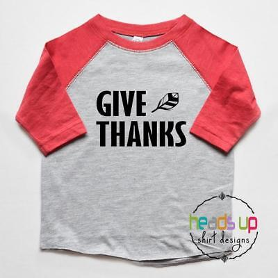 Thankful Shirt Toddler Baby Boy or Girl Youth Adult Thanksgiving tshirt Tee Gift
