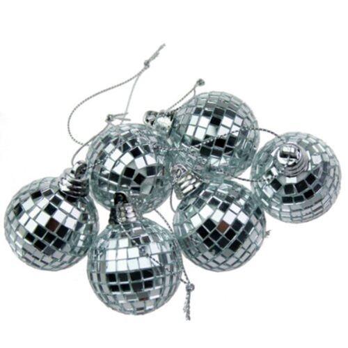 Silver mini Disco Miroir Balle sapin babioles home party Décorations cadeau Craft