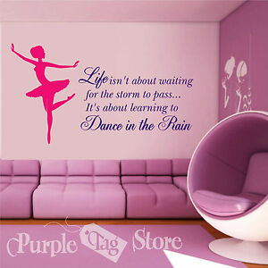 Image Is Loading Ballet Ballerina Life Vinyl Decal Sticker Decor Quote