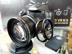 HD Telephoto Zoom Lens Kit for 52MM Nikon D3200 D3100 D3000 D5100 D5000 D3300 Z