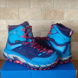 76af0acdaac Details about HOKA ONE ONE TOR ULTRA HI WP BLUE JEWEL TRAIL HIKING BOOTS  SHOES SIZE 7.5 WOMEN