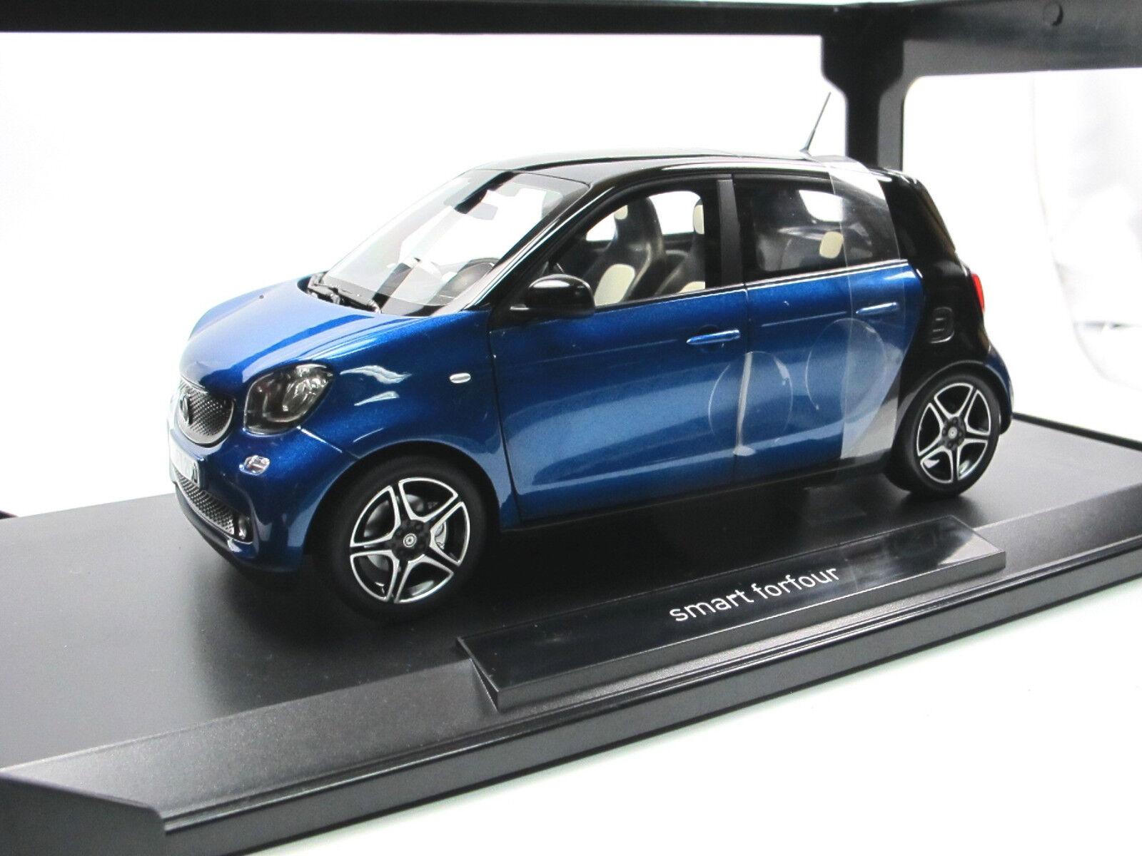 Norev 183435 - 2015 Smart Forfour-nero blu - 1 18 - metal-modelo