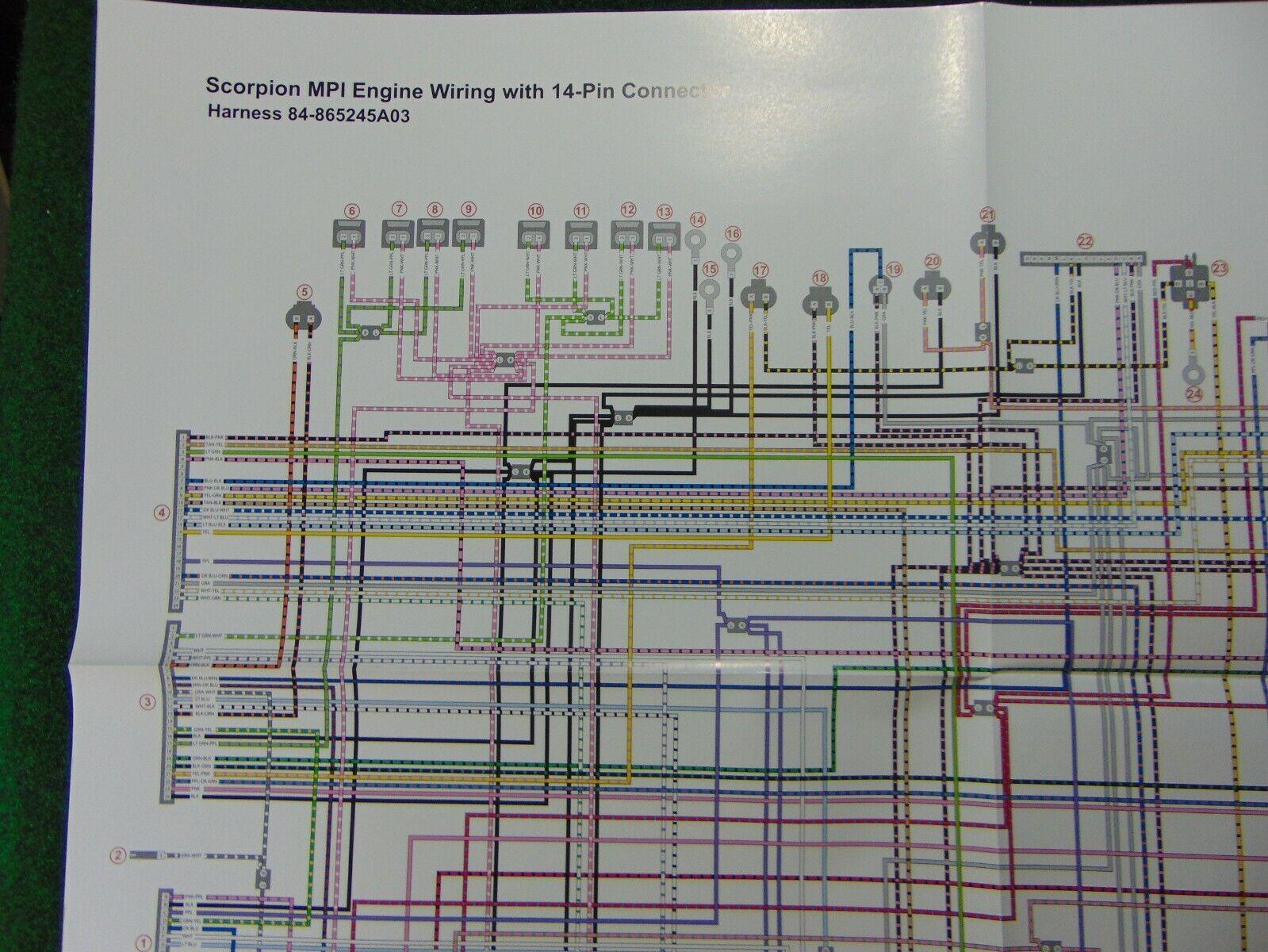MerCruiser Scorpion MPI Engine Wiring 14 Pin Connector Wiring Harness  Diagram   eBayeBay