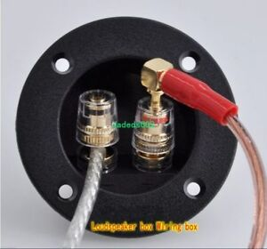 Details about 2pcs 2-way Speaker Junction Box Copper terminal Wiring on