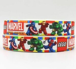 LEGO BRICKS BRICK GROSGRAIN RIBBON,CAKE HAIR BOW,CRAFT,1M,FREE FAST POSTAGE!