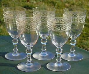 Saint-Louis-Lot-de-5-verres-a-vin-rouge-en-cristal-modele-Mimosa