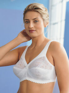 GLAMORISE-Bra-SUPPORT-Cotton-Blend-Comfort-WIDE-STRAPS-Plus-Size-White-NEW-47