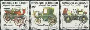 Timbres-Voitures-Djibouti-591-3-o-lot-25778