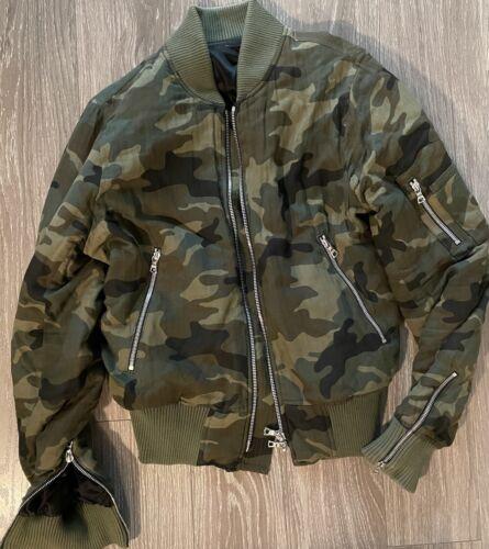 AMIRI Camo/camouflage print bomber jacket Size LAR