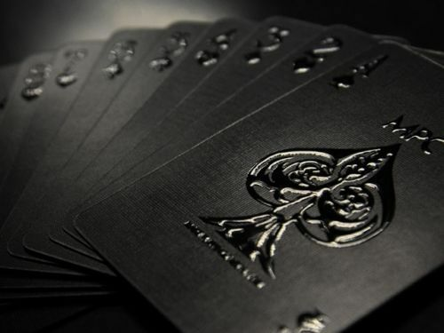 Impressions Black Stealth Custom Limited Poker Playing Cards Deck Professional