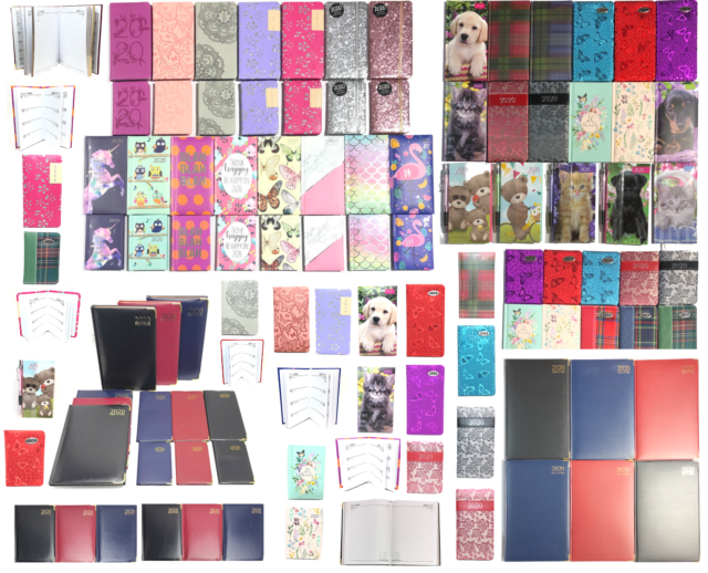 2019 Slim Week To View Diary Embossed Text With Elastic Closure TAL2115