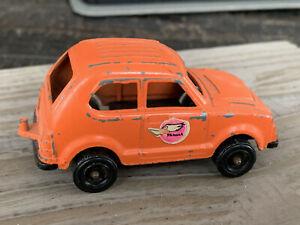 "Vintage Tootsie Toy Honda Civic Orange Diecast Made in U.S.A. 3"" Long... L246"