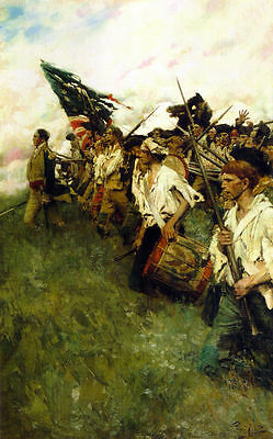 Howard Pyle The Nation Makers Oil Painting repro