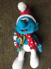"""2010 Macy's Holiday The Smurfs 21"""" Plush Christmas Smurf with Finger Puppets-NEW"""