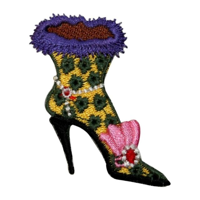Winter Boot Iron on Appliqué//Embroidered Patch Ladies Heels