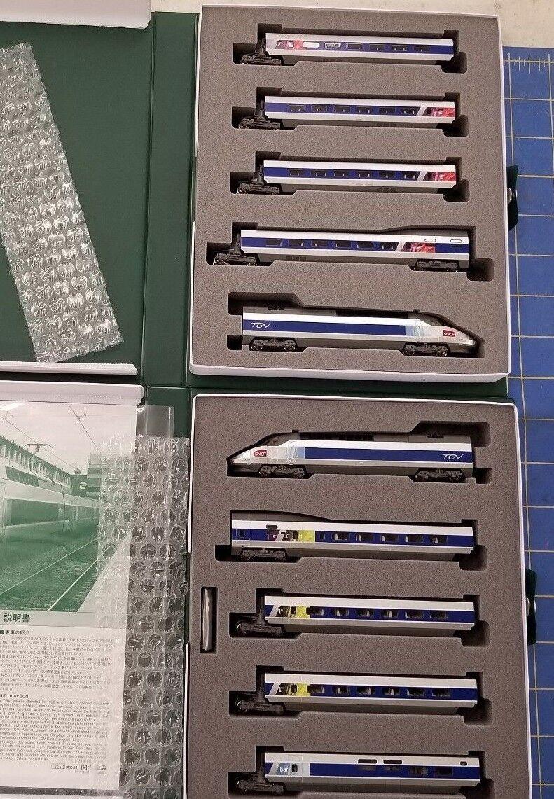 Kato 101431 TGV Reseau 10 auto impoestrellae un & B Scala N Treno da metà AMERICA Raceway