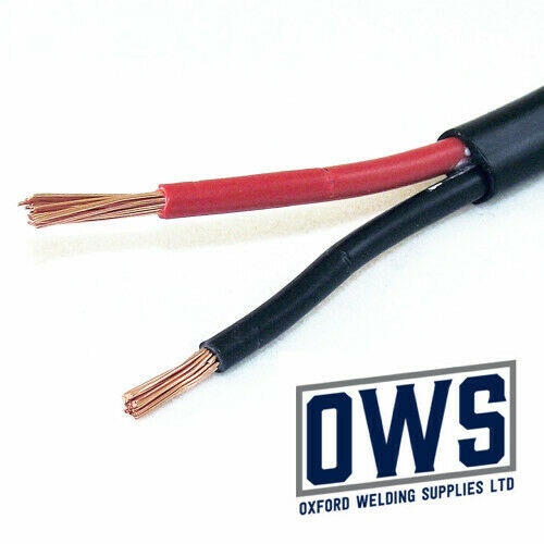 5 Metre x 4.5mm2 Thinwall Twin Core 2 Core two Cable Red//Black 42 Amp Wire