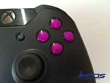 Xbox One 1 Custom ABXY Buttons with Letters Mod Kit (Purple)