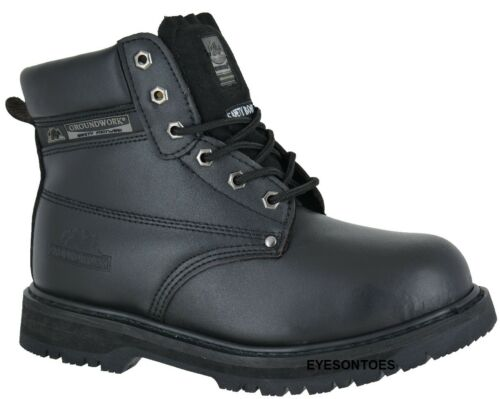 STEEL TOE CAP MENS SAFETY LEATHER ANKLE NEW BOOTS WORK TRAINERS SHOES SIZES 6-13