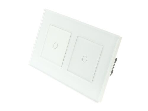 I Lumos Luxe Verre Blanc Cadre Touch Wifi//4 G Remote ON//OFF DEL lumière Commutateurs