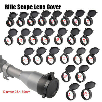 25.4-57mm Rifle Scope Quick Flip Spring Up Open Lens Cover Cap for Caliber new~