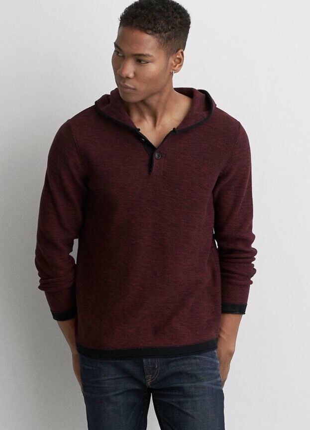 NEW American Eagle Space Dyed Hoodie Sweater Reg