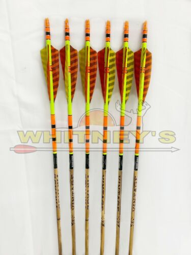 Black Eagle Archery Vintage Arrows for Bow Hunting Target 400 //.005-6 Pack