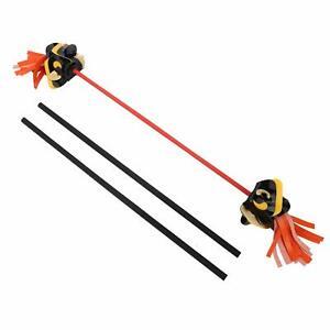 "/""Twist/"" Devil Stick Set with Hand Sticks and Bag Devil//Juggling stick"