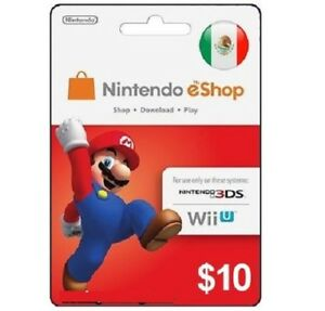 Gift Cards eShop Nintendo of México Nintendo Switch 3DS and Wii U Delivery Fast
