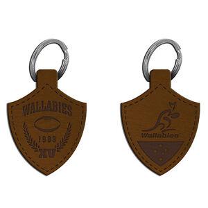 ARU-Wallabies-Rugby-Union-Leather-Keyring-ARU-Official-Merchandise