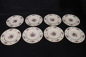 Set of 8 Vintage Ivory China LENOX ROSE #J300 Floral 8\