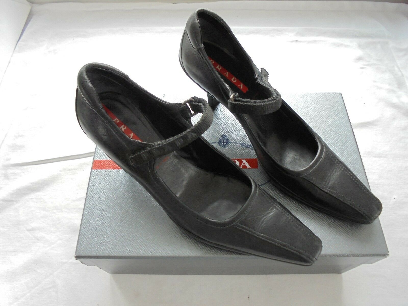 PRADA PELLE PUMPS NP:    Top Designer Scarpe Sandali Taglia 36 473bd1