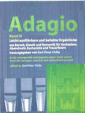 Kirchenorgel Noten : Adagio 3 - beliebte Orgelstücke - leichte Mittelstufe