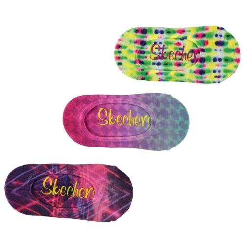 Skechers Kids Girls Trainer Socks 3 Pack Lightweight Stretch Print Printed