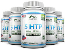 Nu U 5HTP 200mg 5 Bottles 900 Tablets UK Manufactured 100% Money Back Guarantee